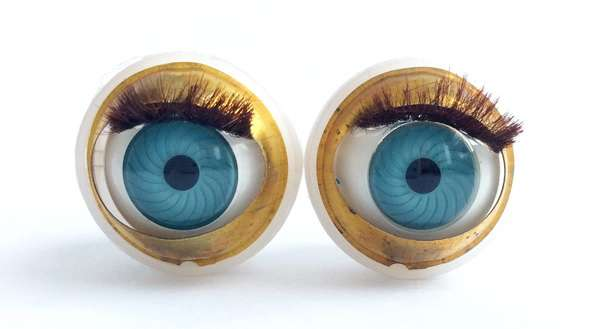 Vintage doll blinking eyes. 19 mm