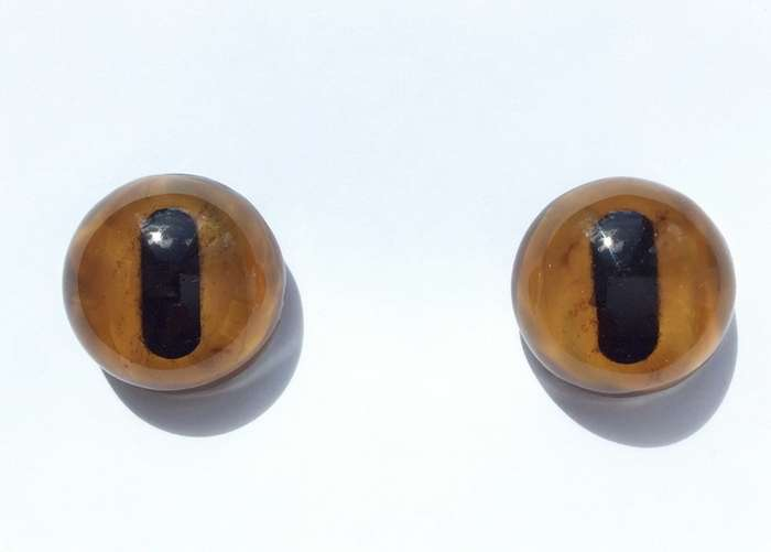 Glass eyes lampwork, 30 mm.