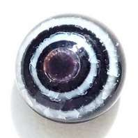 Lilac, black, white circle. 11 mm