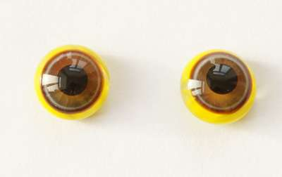 Grey brown on yellow. 10 mm