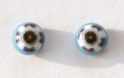 Red, blue, white strip on blue. 10 mm