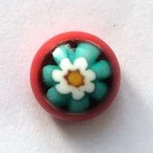 Flower on turquoise. 8 mm