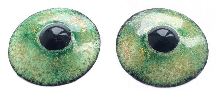 Enamel eyes-buttons. 19 mm.