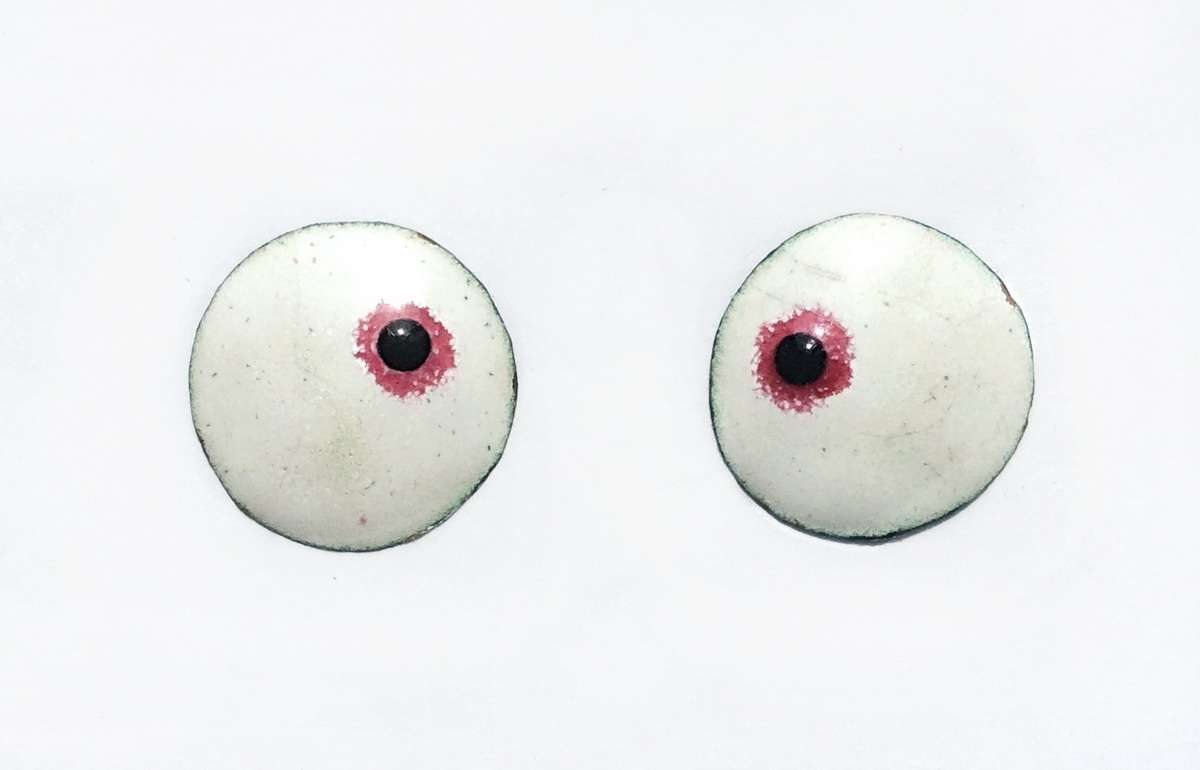 Enamel eyes-buttons. 17 mm.