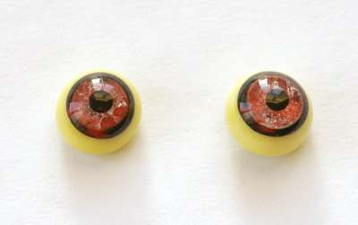 Crackle red on yellow. 10 mm