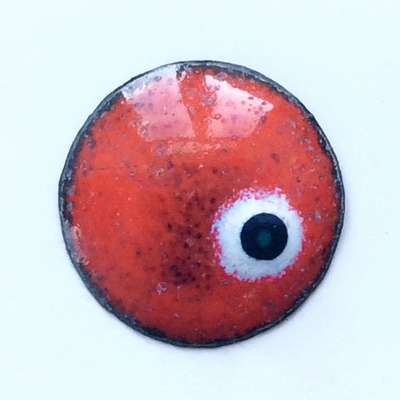 Enamel eyes-buttons. 13 mm.