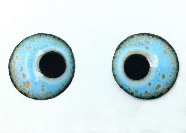Enamel eyes-buttons. 14 mm.