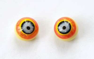 Black and white on orange yellow. 10 mm