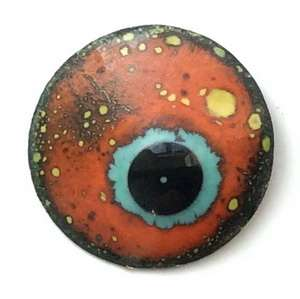 Enamel eyes-buttons. 15 mm. 5 euro.