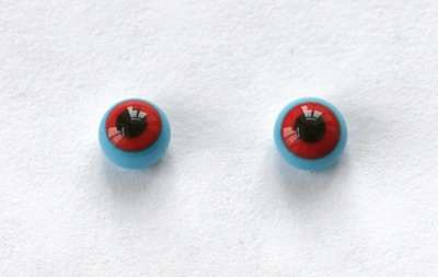 Red on blue. 6 mm