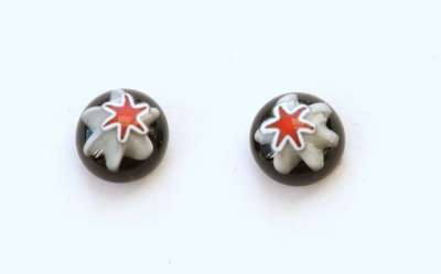 Star on white. 9 mm