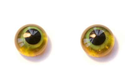 Green on amber. 11 mm
