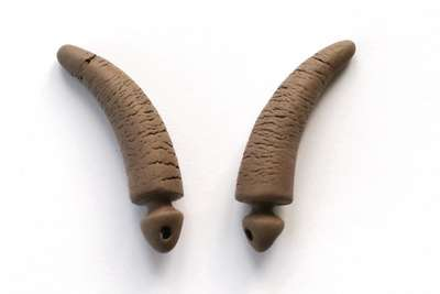 Curved horns. 35 mm.