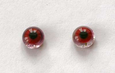 Cherry red on transparent. 9 mm