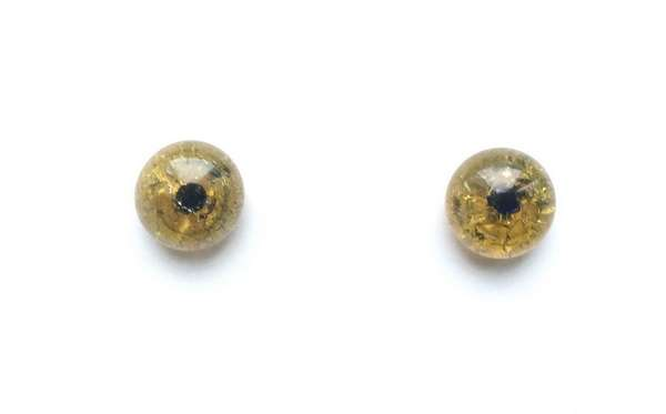Yellow amber cracle. 9 mm