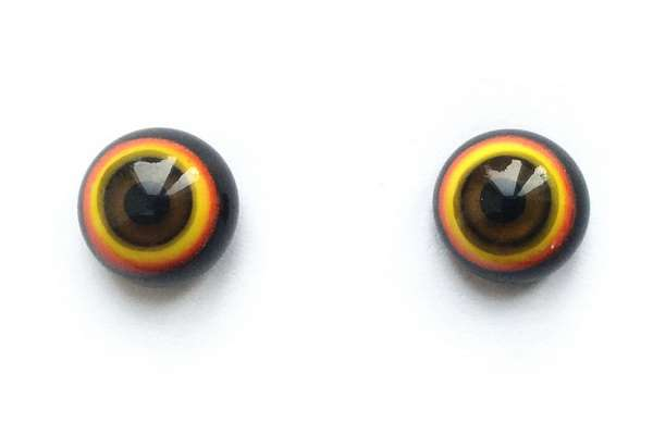 Yellow-red-black. 9 mm