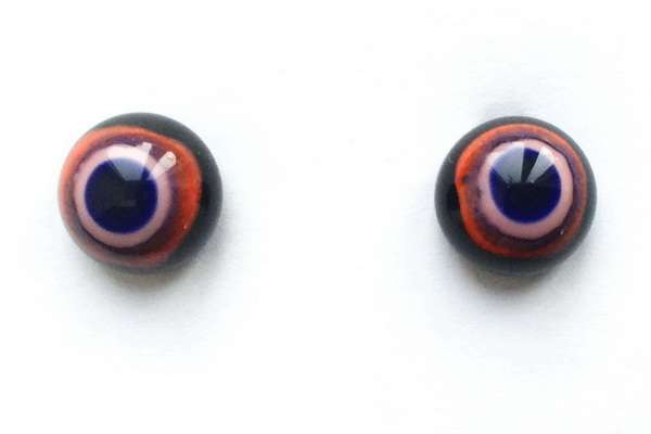 Black red with pink. 9 mm