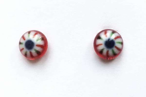 Red with strip. 8 mm