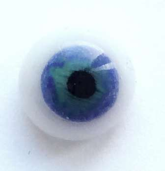 Blue on white. 7 mm