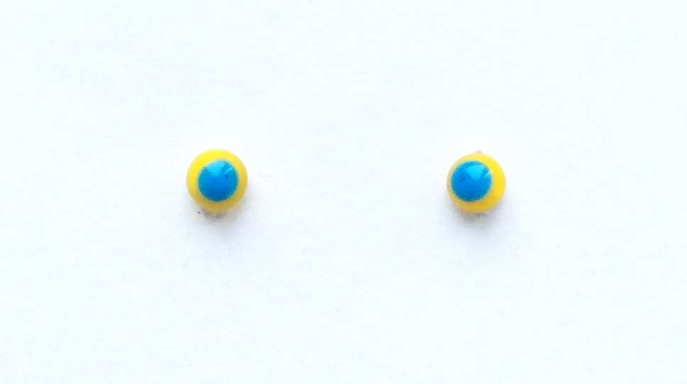 Blue on yellow. 4 mm. 1.5 euro.