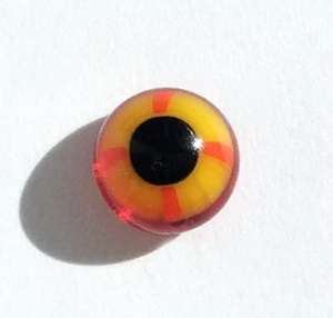 Yellow on red. 6 mm