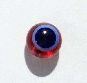 Blue on red. 6 mm