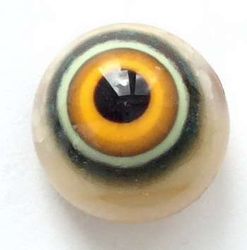 Yellow brown. 9 mm
